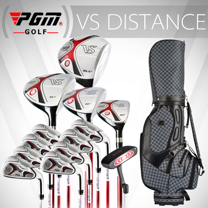 Free shipping PGM male golf complete set of clubs Men beginners 13 pieces rod zinc heads standard package wholesale and retail(China (Mainland))