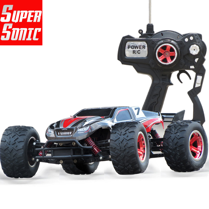 1/12 electric rc cars 4WD shaft drive trucks high speed Radio control in red color, Rc Monster truck, Super Power Ready to Run(China (Mainland))
