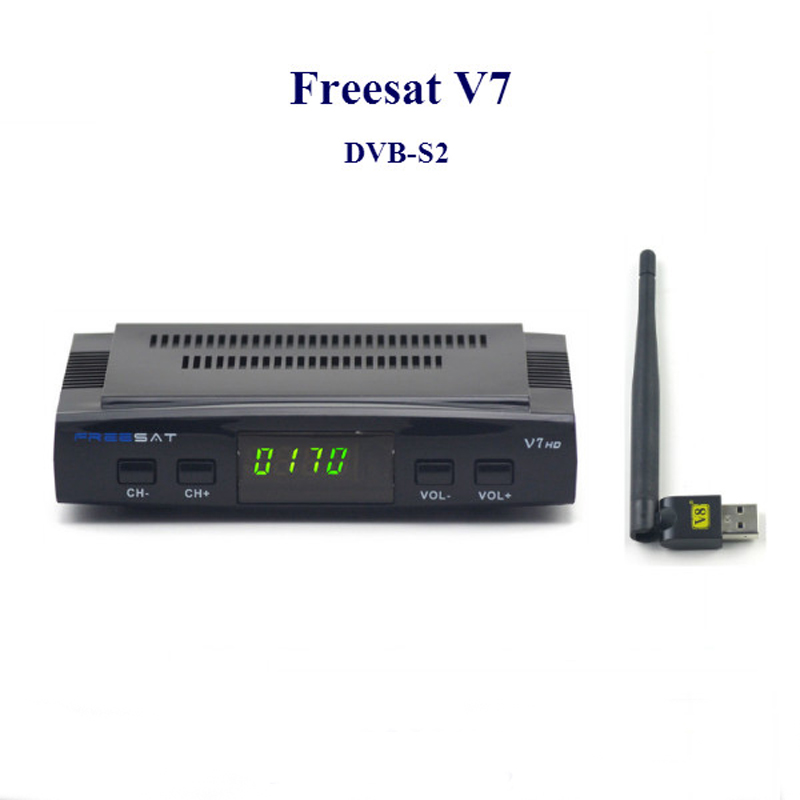 2016 digital hd satellite receiver dvb s2 Freesat V7 with usb wifi cccam satellite receiver tv box support 1080P Full HD DVB-S2(China (Mainland))