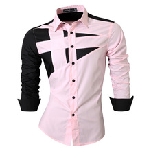2016 Spring Autumn Features Shirts Men Casual Jeans Shirt New Arrival Long Sleeve Casual Slim Fit Male Shirts 8397(China (Mainland))