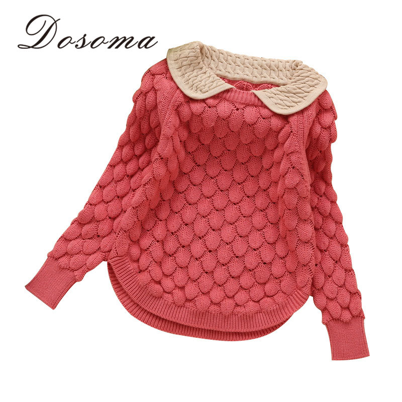 kids new fashion kids designer Girls doll collar thread hook flower sweater children wool sweater girls brand sweater for 2-8y(China (Mainland))