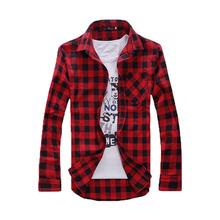 Men Plaid Shirts 2016 New Autumn Luxury Slim Brand Formal Business Fashion Dress  men's casual long Sleeve Shirts(China (Mainland))