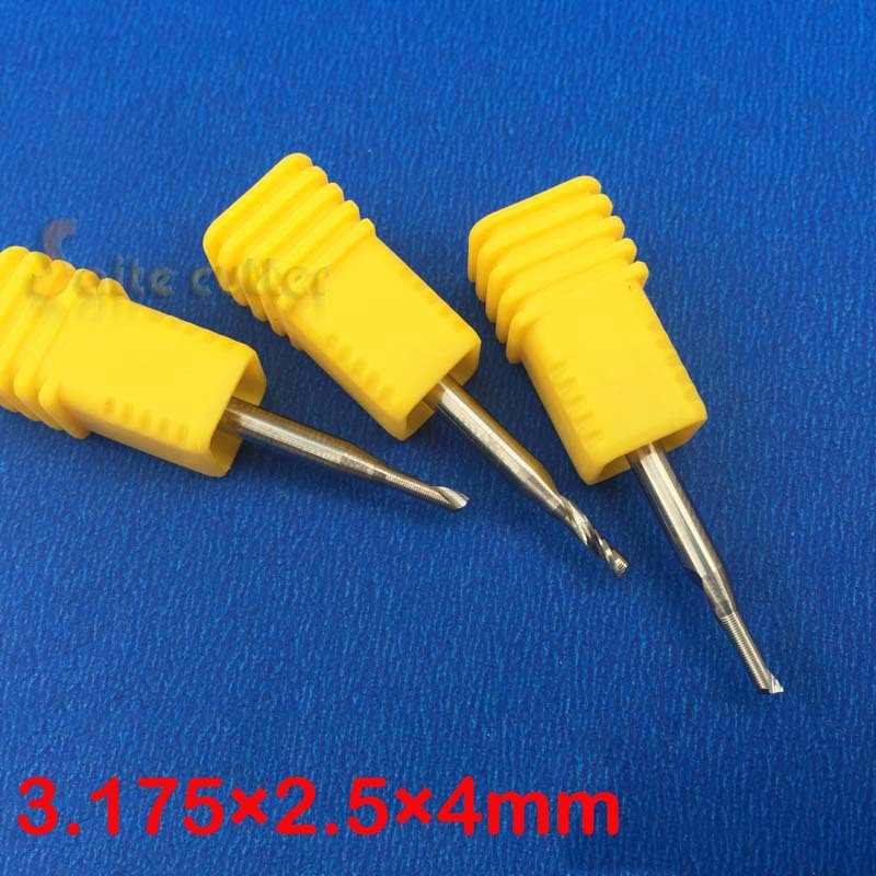 one/single flute spiral CNC router bits density board acrylic plastic(China (Mainland))