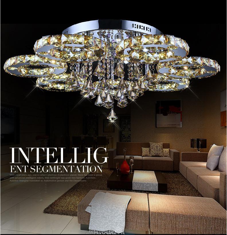 2015 new modern design round lustre crystal chandelier led. Black Bedroom Furniture Sets. Home Design Ideas