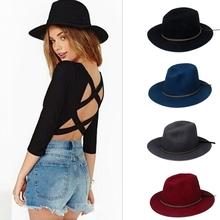 Fashion 100% Woolen Summer Winter Women's Men's Fedora hat Crushable Genuine Felt Sun Cap Trilby Gorra Toca Sombrero panama hat(China (Mainland))