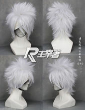 HOT sell Free Shipping >> Hot Sell! Kakashi SOUL EATER Anime Silver white Short Cosplay Wig