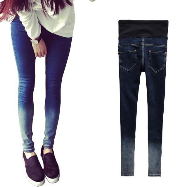 Джинсы беременным осень хлопка джинсовые брюки живот беременных одежда отверстие ...