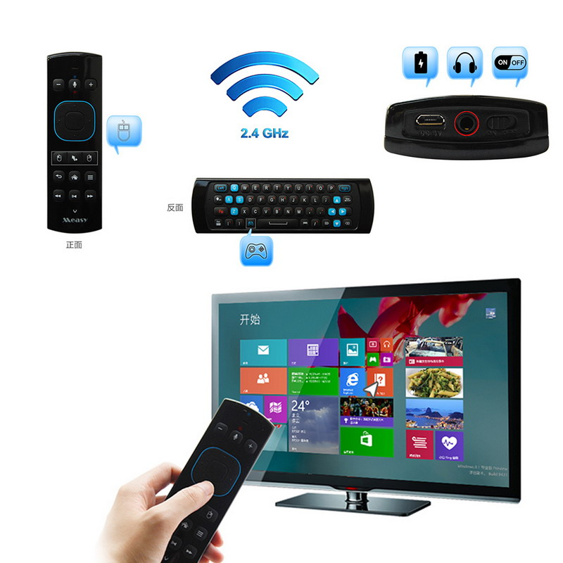 Measy GP830 2.4G Wireless 30m Distance Remote Control Multifunction Air Mouse Remote Control A#V9<br><br>Aliexpress