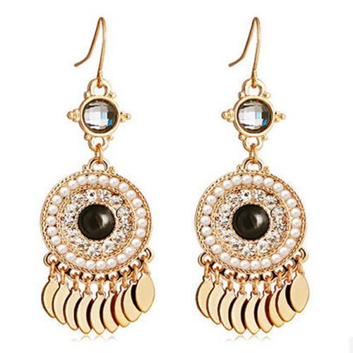 Dangle Earring Wholesale Gold Jhumka Long Earrings Black