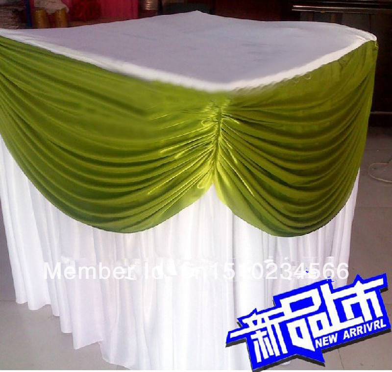 10ft 29 table skirting with velcro tablecloth wedding for 10 ft table cloth