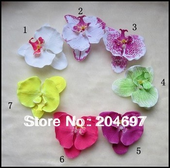 7pcs/ lot  Free Shipping Children Kid's Moth Orchid  Head Wear Baby Flower Hair Clips Girls Barrettes Hair Accessories