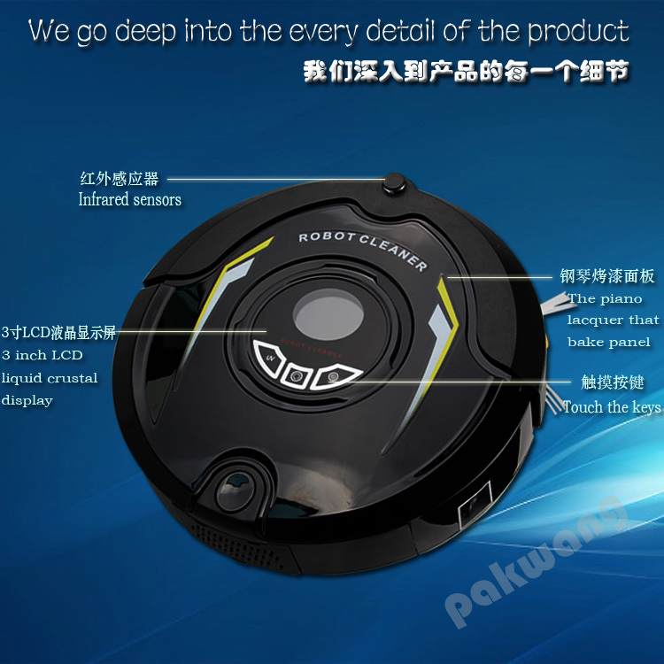 robot vacuum cleaner wet and dry (Sweep,Vacuum,Mop,Sterilize) Virtual Wall,Auto Charge,black market weapons(China (Mainland))