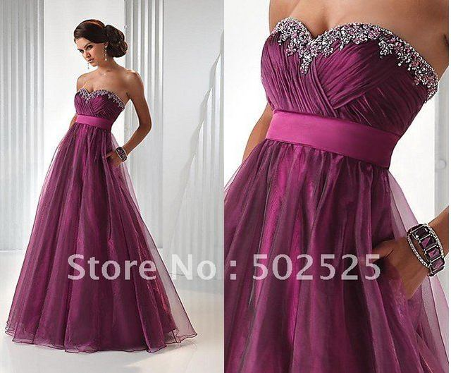 Nice beading diaphanous handwork Empire  Evening Gown OL101579