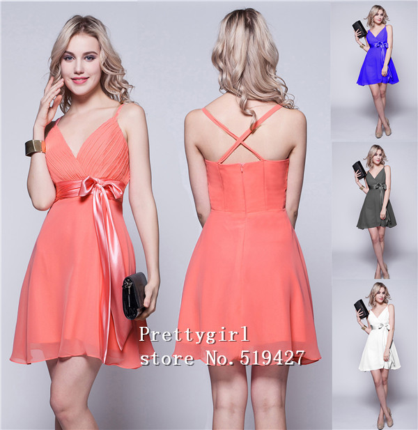 Online Buy Wholesale coral peach short dresses from China coral ...