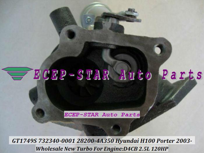 Новый GT1749S 732340 - 5001 S 732340 - 0001 732340 28200-4A350 турбо турбины турбокомпрессора для Hyundai Porter 2003 двигатель D4BC 2.5L
