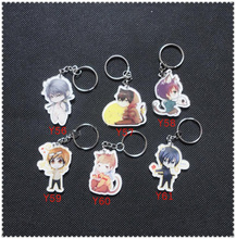 5PCS The Graver Robbers Chronicles WuYe Character Keychain Figure Pendnat Boutique Keyring Car Decoration