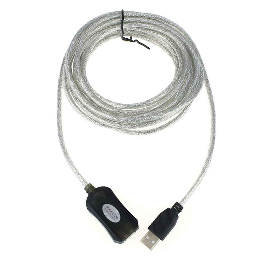 Del 5M USB Active Repeater Cable Extension Lead For Computer Plug Extender Mar01(China (Mainland))