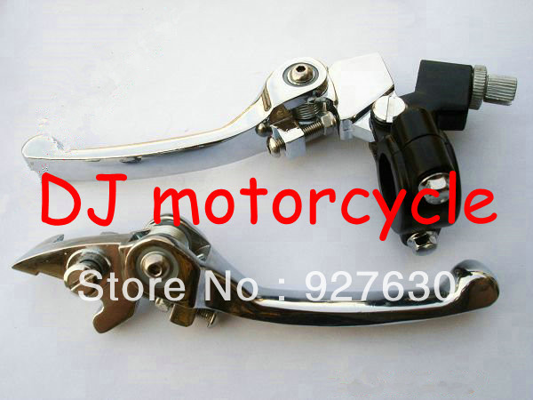 Hot selling dirt bike folding brake and clutch levers Levels for pit bike used 125cc universal mini motocross spare parts(China (Mainland))