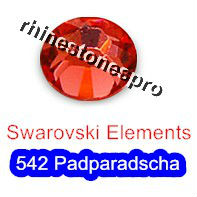 GENUINE Swarovski Elements ss8 Padparadscha ( 542 ) 720 pcs 8ss Iron on  Craft  Flatback Crystal 2038 Hotfix rhinestones