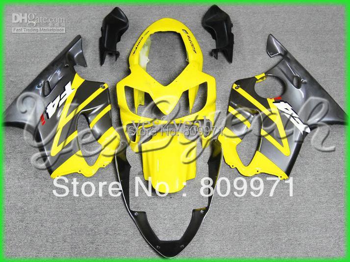 K224 Yellow+Flat black Fairing Kit For CBR600 F4I 04-07 CBR600 F4I 2004-2007 CBR600F4I 04 05 06 07(China (Mainland))