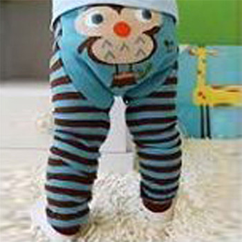 6 Color Cute Baby Kid Infant Toddler Newborn Cartoon Striped Leggings Long Pants ZW01