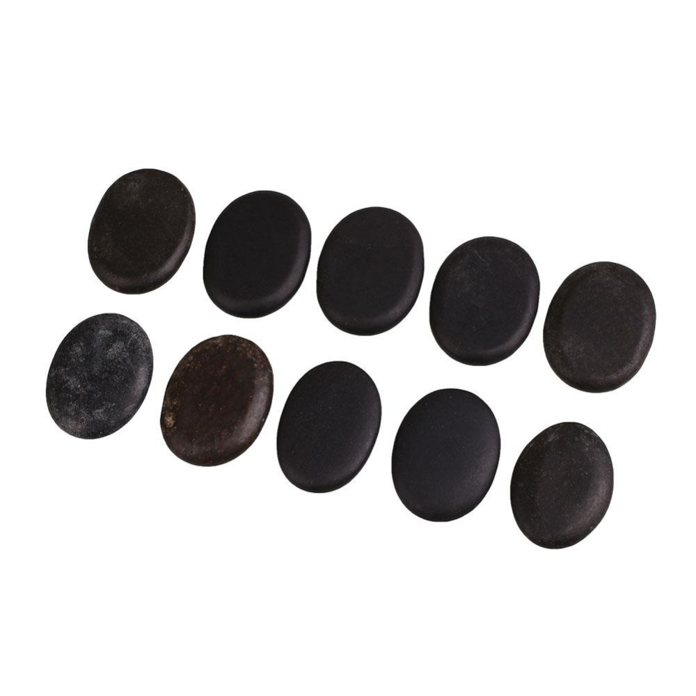 10pcs Energy Massage Basalt Rocks Stones Personal Therapy Body Massager Pain Relief Health Care Black Wholesale