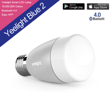 100% оригинальный Xiaomi Mi Yeelight bluetooth-смарт ii пульт дистанционного управления свет E27 RGBW умный дом освещения из светодиодов лампы