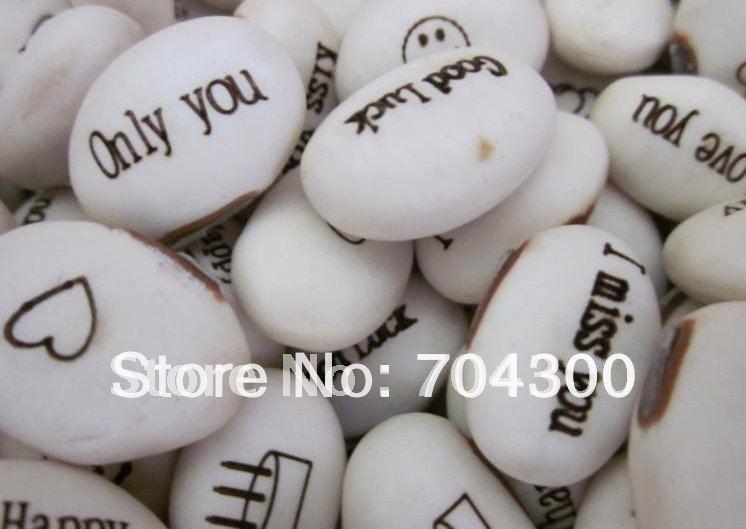 Hot sale (100pcs/lot) Magic Growing Message Beans /Seeds ,magic bean,English Magic Bean,Green Home Decoration(China (Mainland))