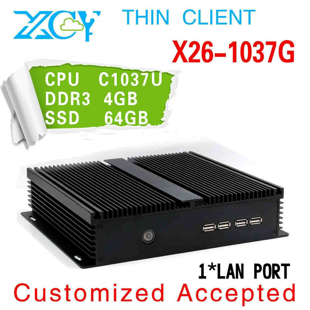 Small and exquisite! Intel C1037U Thin computer, Celeron Dual-core 1.8GHz fanless pc, XCY X26-1037G Industrial embedded pc(China (Mainland))
