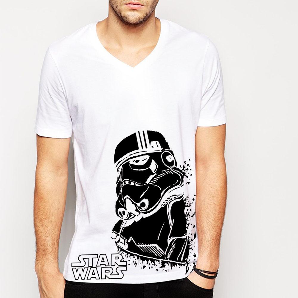 Star wars darth vader t shirts men cotton casual mens for Mens shirt with stars