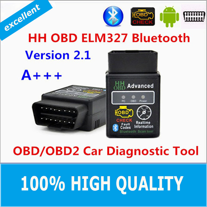 Hot!!! 2016 Best Quality Hot Auto Car ELM327 HH Bluetooth OBD 2 OBD II Diagnostic Scan Tool elm 327 Scanner free shipping(China (Mainland))