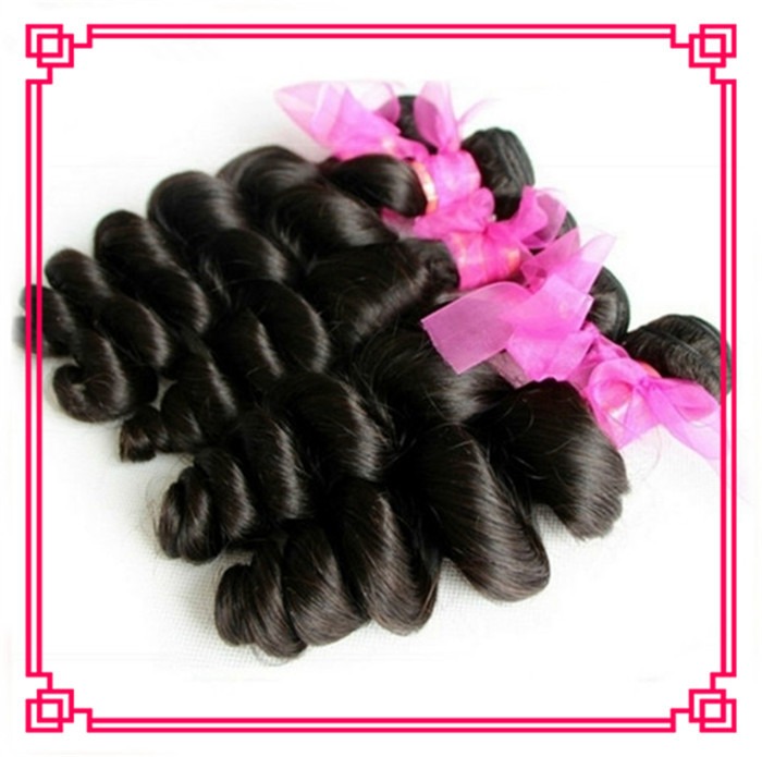 Grade 6A Peruvian Virgin Hair loose Wave 4Pcs/Lot good quality Peruvian hair bundles Shedding No Tangle Free Shipping