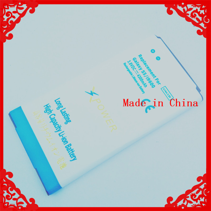 4300mAh High Capacity OEM Mobile Phone Battery Blue Batery For Samsung Galaxy S5 i9600 G900 G900F G900H(China (Mainland))
