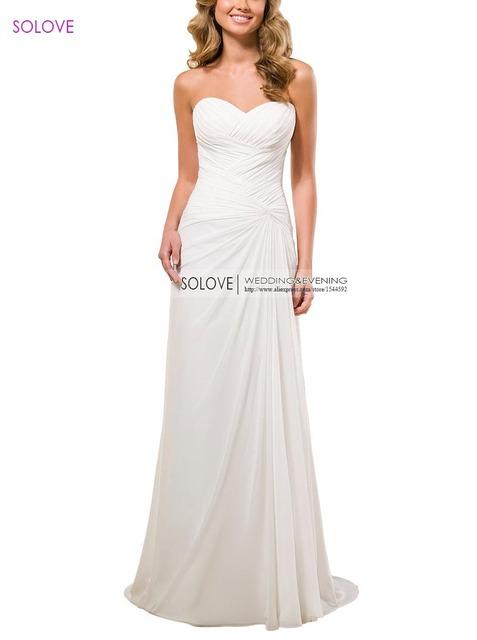 Дешевые! Для инвалидов свадебное платье 2016 белый / кот элегантный длинным свадебное ...