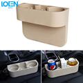 Car Holder Auto Seat Gap Pocket Catcher Organizer Leak Proof Storage Box black brown Beige Car
