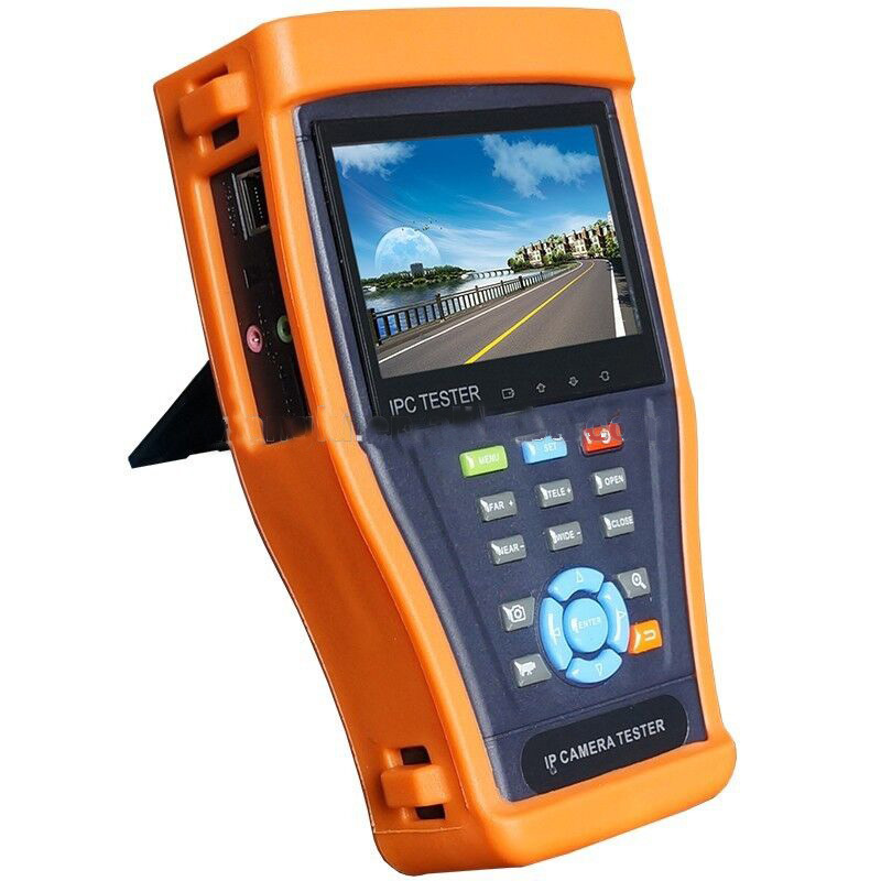4.3'' IP camera tester CCTV tester monitor ip cameras TDR cable analog cameras testing cable scan ip revise PTZ 12V2A POE output(China (Mainland))