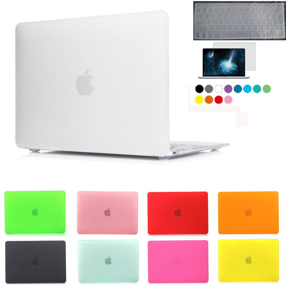Case For MACBOOK Air Frosted Cover For mac book Air 11.6 13.3 Pro 13.3 15.4 Pro Retina 12 13.3 15.4 laptop bag