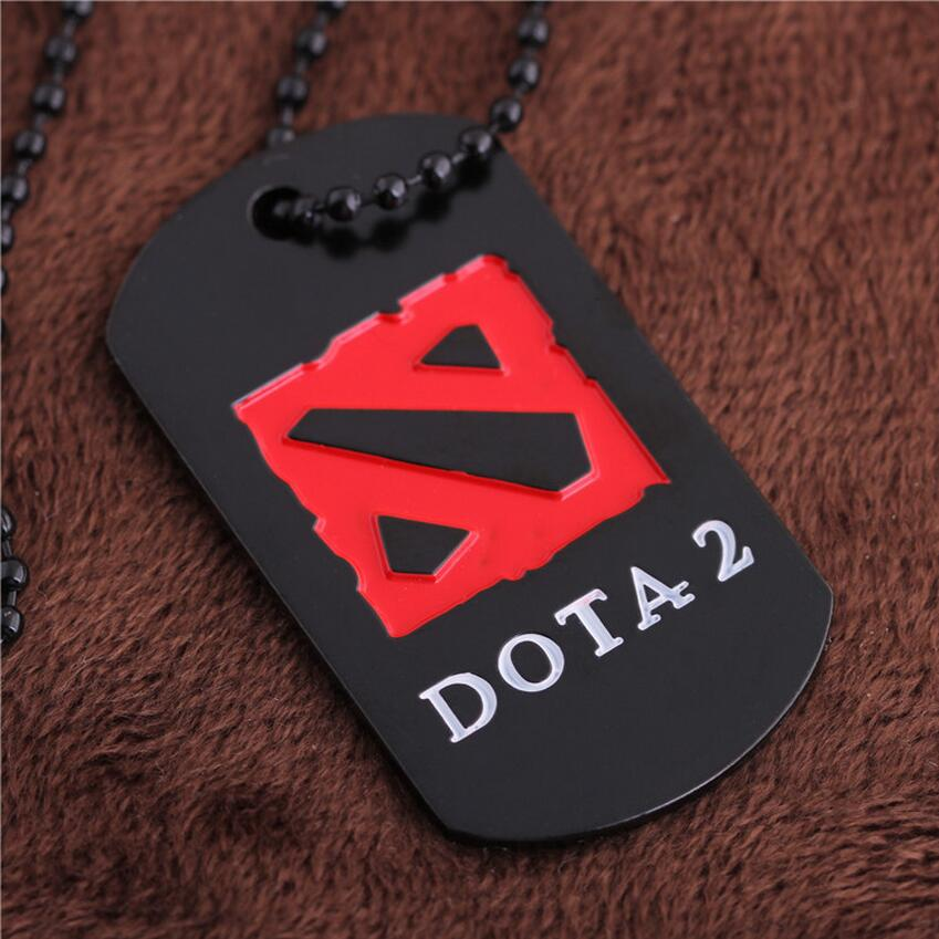 [DOTA 2] Game Logo Pendant Necklace Cool Black & Red Design Player's Collection Super Cool Jewelry Gift Cheap Retail Wholesale(China (Mainland))