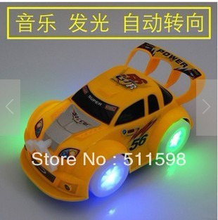 Free shipping  Light music Automatic steering toy cars/child toys/baby toyscars for kids XMAS GIFT