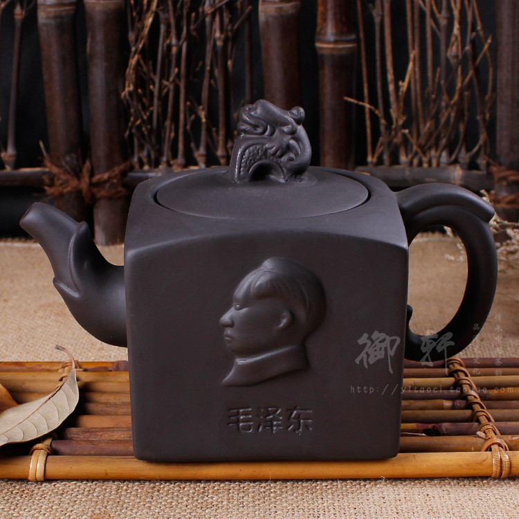 Large capacity yixing hand half a pot are recommended Undressed ore zhu clay teapots ceramic flower pot kettle(China (Mainland))