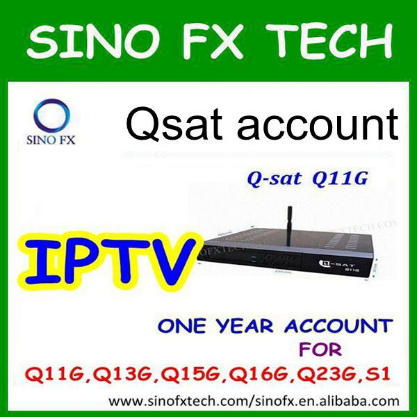 one year IPTV account for all qsat models decoders/satellite receivers for internet channel/DQIPTV(China (Mainland))