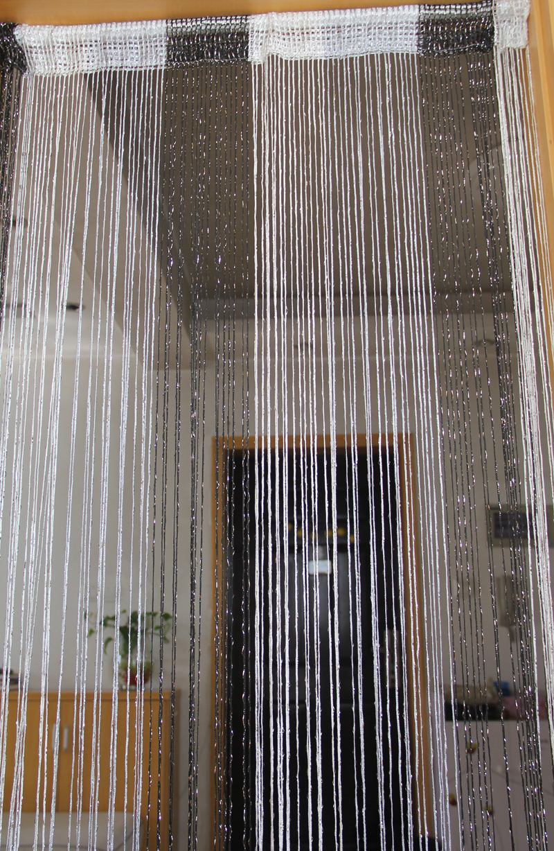 String curtain thread curtain line curtain mix color silver door blind