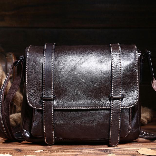 Ретро стиль мода натуральная кожа мужчины сумки высокое качество плечо сумки для ...