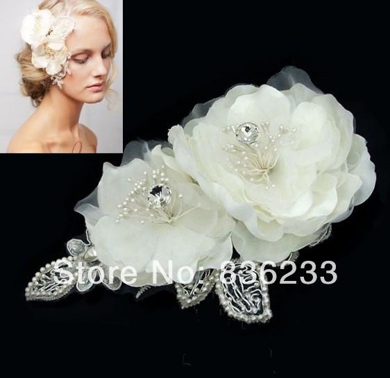 Magnificent Flower Rhinestone Bridal hair Accessories wedding Bridal Hats Fascinator Headpiece(China (Mainland))