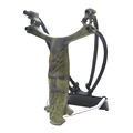 1pk G4 Slingshot Wrist Catapult Bow Camouflage Outdoor Sports Hunting Powerful Hunter with Arrow Rest