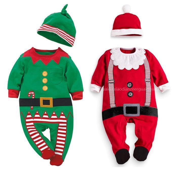 2015 christmas santa baby romper baby clothing ropa bebe
