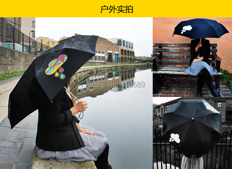 clouds umbrella auto umbrella Open Hand Color changing umbrella George Honda - Changing Parasol gift umbrella(China (Mainland))