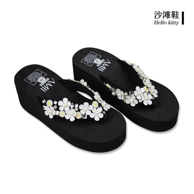 Saltos altos Cunhas Chinelos Comprar Sapatos Chinelos de Praia das Mulheres Online Cheaps 2016 Com Menos de 20 Dólares(China (Mainland))