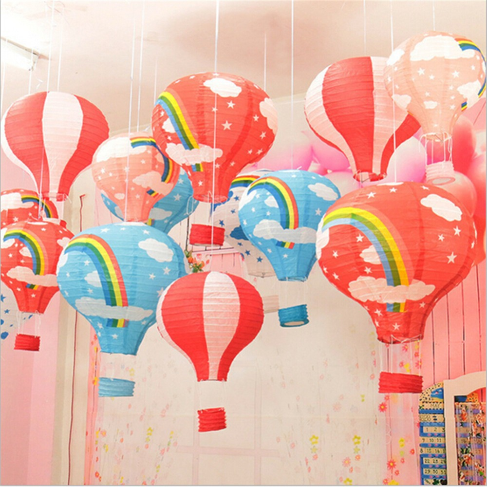 5Pcs multicolor Paper Chinese wishing lantern hot air balloon Fire Sky lantern for Birthday Wedding Party decoration supplies(China (Mainland))