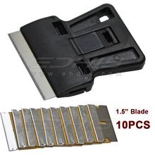 automobile window tint tool mini plastic razor scraper with 10 pcs extra 1.5 inch carbon steel blade(China (Mainland))